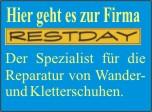 Link Restday - Reparatur Kletterschuhe Wanderschuhe